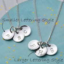 Initials Necklace Silver Sterling Silver Initial Necklace By Nina Louise