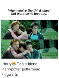 Third Wheel Meme - when you re the third wheel but want some love too harry tag a