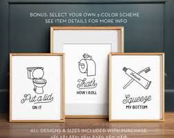 Wall Art Ideas For Bathroom Bathroom Wall Decor Etsy