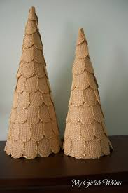 diy burlap and glitter christmas trees my girlish whims