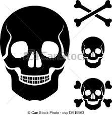 vector human skull cross bones symbol clip vector search