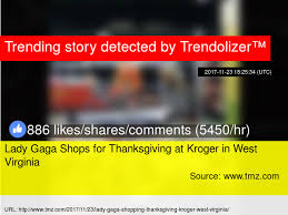 gaga shops for thanksgiving at kroger in west virginia
