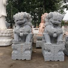 lion dog statue carving bluestone animal lion fu dog statue buy