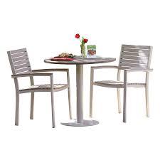 Plastic Patio Furniture by Shop Oxford Garden Travira 3 Piece Plastic Patio Bistro Set At