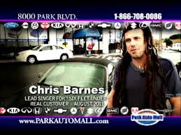 Chris Barnes Park Auto Mall Commercial With Chris Barnes Lead Singer Of Six