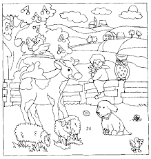 coloriage animaux de la ferme à colorier dessin à imprimer