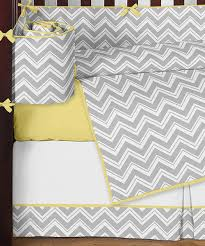 gray and yellow chevron zig zag baby bedding 9pc crib set by