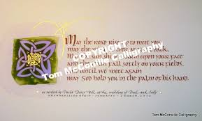 wedding blessing words celtic words wisdom tom mcconville calligraphy