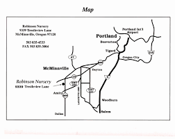 Mcminnville Oregon Map by Map Directions To Nursery Robinson Nursery