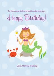 printable mermaid birthday card template
