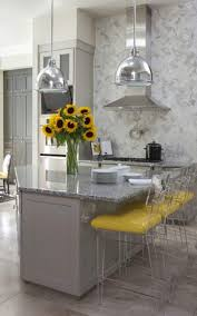 gray and yellow kitchen home design ideas
