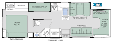 four winds super c diesel motorhomes floor plans thor motor coach