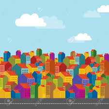 Colorful City Vector Of Colorful City Skyline Royalty Free Cliparts Vectors