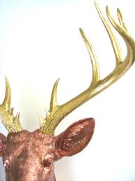 xl faux taxidermy deer head wall mount wall hanging in light
