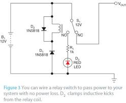 simple reverse polarity protection circuit has no voltage drop edn