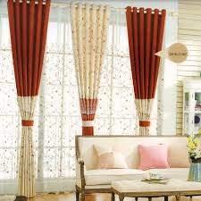 Two Tone Curtains Decorative Two Tone Curtain Floral Pattern 2016 New Arrival