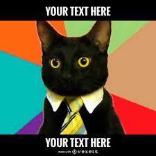 Gato Meme - generador meme del gato dise祓o editable