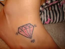 realistic diamond tattoo on ankle tattooshunter com