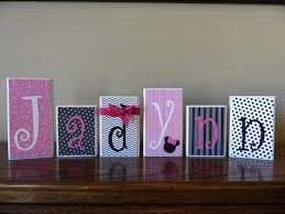 Decorative Letter Blocks For Home Personalized Name Block Letters Home Decor Custom Gift U0027s