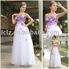wedding dresses with purple detail weddinggown with small purple flowers details the wedding