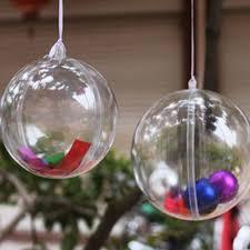 online shop 10cm christmas plastic transparent ball boule