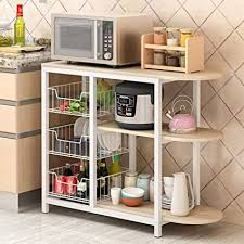 kitchen pantry storage cabinet microwave oven stand with storage okbop kitchen baker s rack large capacity