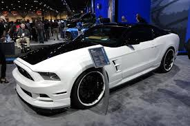 White Mustang With Black Wheels 5 Exclusive Mustangs From Sema Amcarguide Com American Muscle