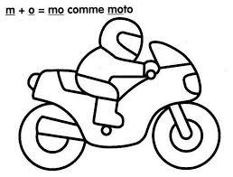 si e enfant scooter coloriage moto enfant les beaux dessins de transport à imprimer et