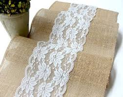 ice blue table runner natural burlap table runner wedding table runner with country
