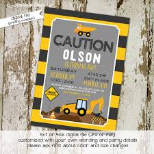 construction birthday invitations baby boy shower vintage party