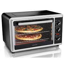 Toaster Oven Dimensions Hamilton Beach Countertop Oven Black 31105
