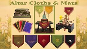 meditation supply altar cloths and mats boon decor