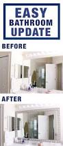 Frame Bathroom Mirror Kit by Easy Bathroom Update With Diy Mirror Frame Kit From Frame My Mirror