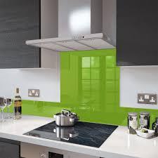 lime green colour splashback glass upstand 140 x 1000mm lime