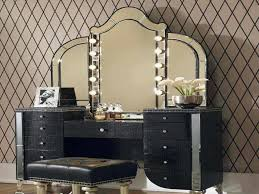 bedroom vanity sets with lighted mirror decoraci on interior