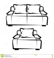 Couch Drawing Chair And Sofa Freehand Drawing Stock Vector Image 75123939