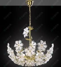 Flower Pendant Light Acrylic Flower Pendant Light Gold Pole Ceiling Light Metal Ceiling