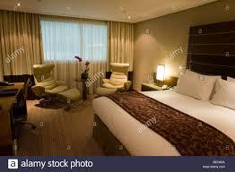 luxury room in hotel chain sofitel at heathrow u0027s terminal 5 stock