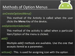 android oncreateoptionsmenu android menus
