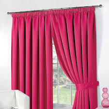 Black Curtains 90 X 54 Dreamscene Thermal Pencil Pleat Pair Of Blackout Curtains