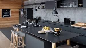 deco cuisine noir et gris idee deco cuisine noir et gris idée de modèle de cuisine
