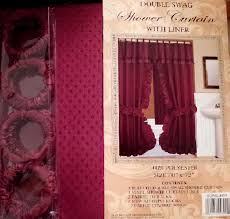 fabric shower curtains water repellent country lace double