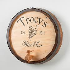 personalized signs for home decorating personalized oak wine barrel top sign wine enthusiast