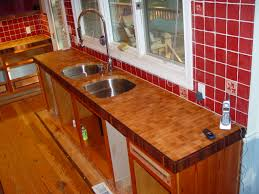 custom solid wood hard maple end grain counter top with solid end