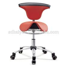Leather Saddle Bar Stools New Red Pu Leather Ergonomic Dental Saddle Stool Leather Saddle