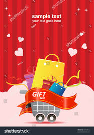 s day shopping valentines day shopping poster stock vector 42944812