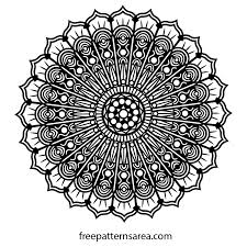 free printable mandala art drawing