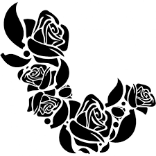 flower ornament of roses icons free