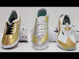 Spray Paint Your Shoes - gold sneakers how to make your own with manhattan wardrobe supply