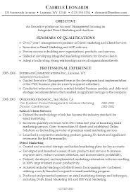 resume summary of qualifications management resume summary template sle sles for freshers